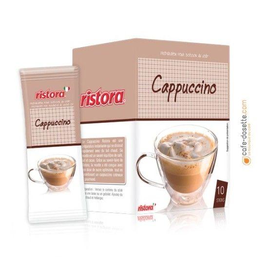 Boisson Soluble Ristora Saveur Cappuccino (x10) - 2.6€