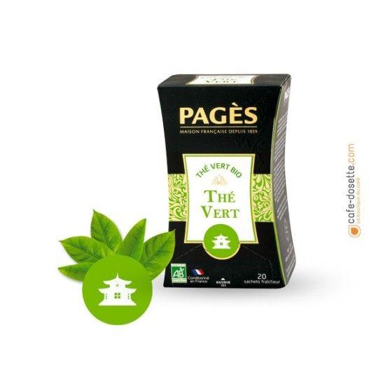 Thé Vert - Thé BIO Pagès (x20) - 4€