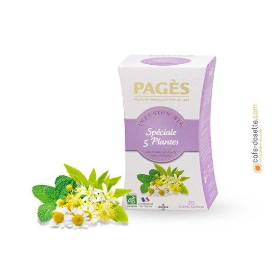 Infusion Spéciale 5 Plantes - Infusion BIO Pagès (x20) - 3.4€