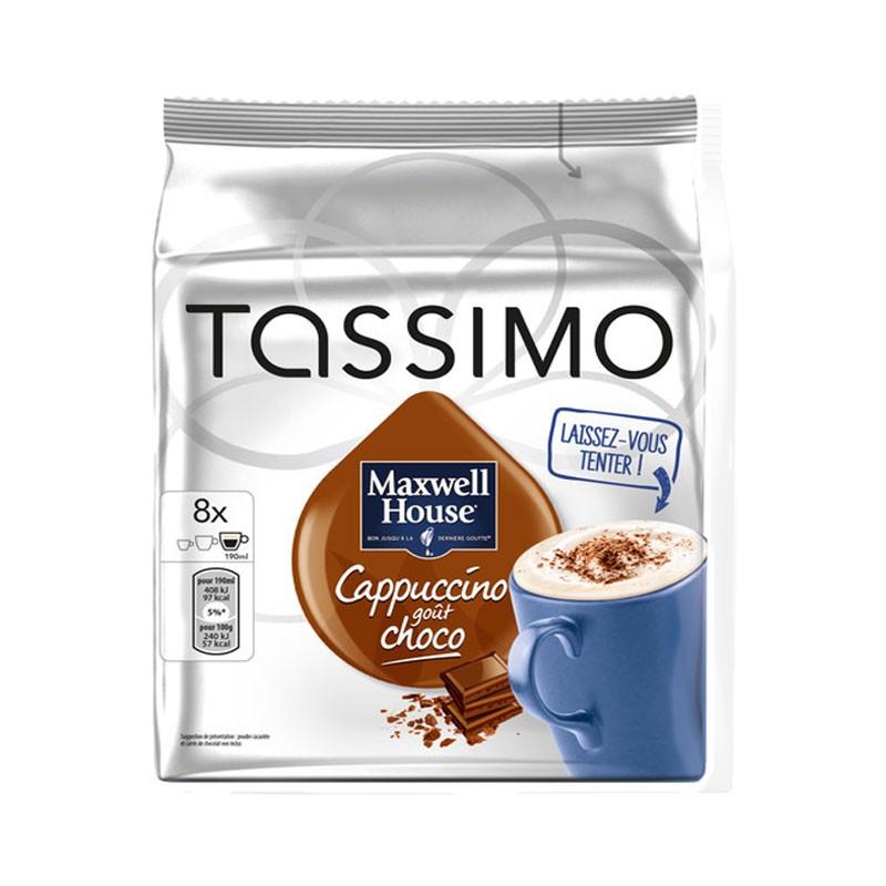 dosette tassimo cappuccino choco maxwell house x8 cafe. Black Bedroom Furniture Sets. Home Design Ideas
