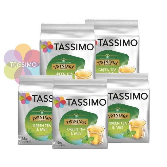 Offre Tassimo Twinings Thé Vert à la Menthe (x80) - 20.07€