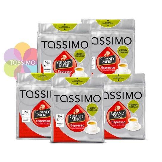 Offre Tassimo Grand'Mère Espresso (x80) - 15.26€