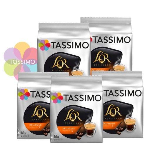 Offre Tassimo L'Or Espresso Delizioso N°5 (x80) - 22.46€