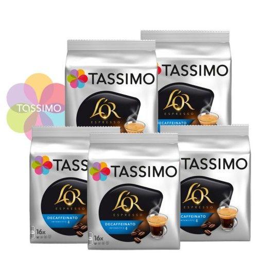 Offre Tassimo L'Or Espresso Decaffeinato N°4 (x80) - 24.95€