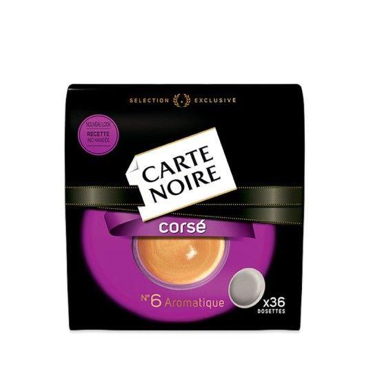 Dosette Senseo® Compatible Corsé N°6 Carte Noire (x36) - 4.59€