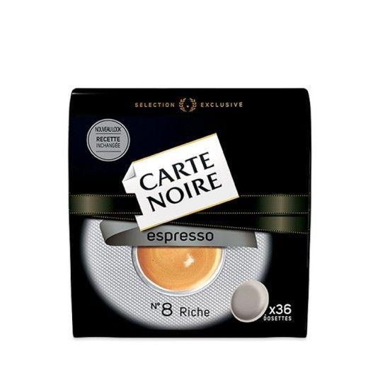 Dosette Senseo® Compatible Espresso N°8 Carte Noire (x36) - 4.59€
