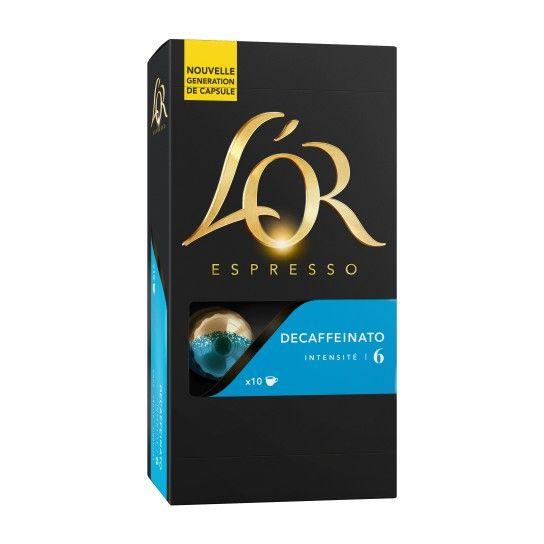 Capsule Nespresso® Compatible Decaffeinato N°6 L'Or Espresso (x10) - 3.15€