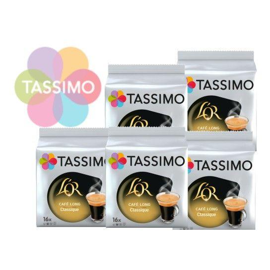 Offre Tassimo L'Or Café Long Classique (x80)