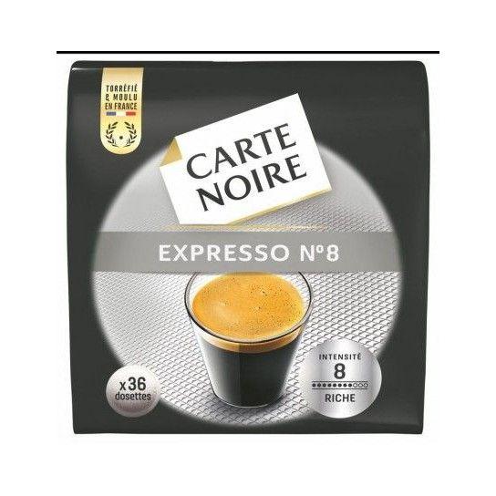 Dosette Senseo® Compatible Espresso N°8 Carte Noire (x36)