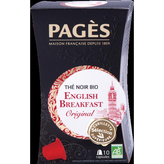 Pagès - Thé Noir Bio English Breakfast Capsules (x10)