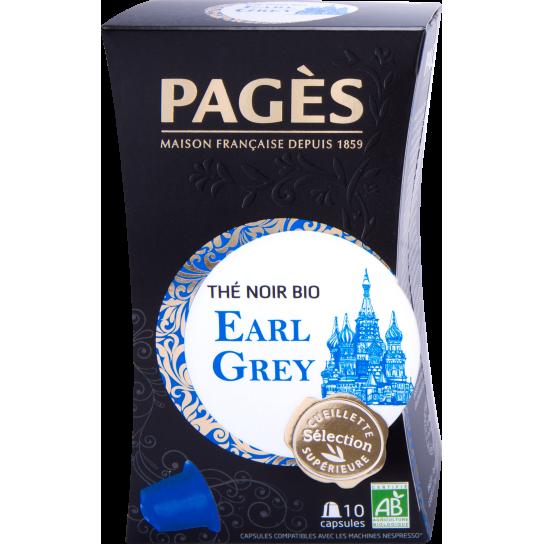 Pagès - Thé Noir Bio Earl Grey Capsules (x10)