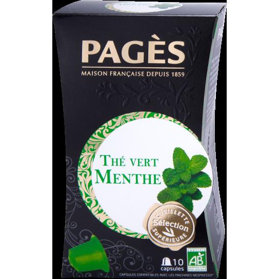 Pagès - Thé Vert Menthe Capsules (x10)