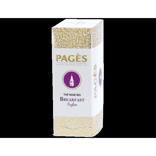 Pagès - Thé Noir Bio Breakfast Ceylan (x24) - Prestige du Monde