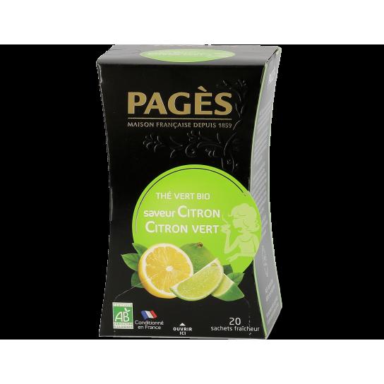 Thé Vert Citron - Thé BIO Pagès (x20) - 3.5€