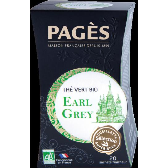 Thé Vert Earl Grey - Thé BIO Pagès (x20) - 4€