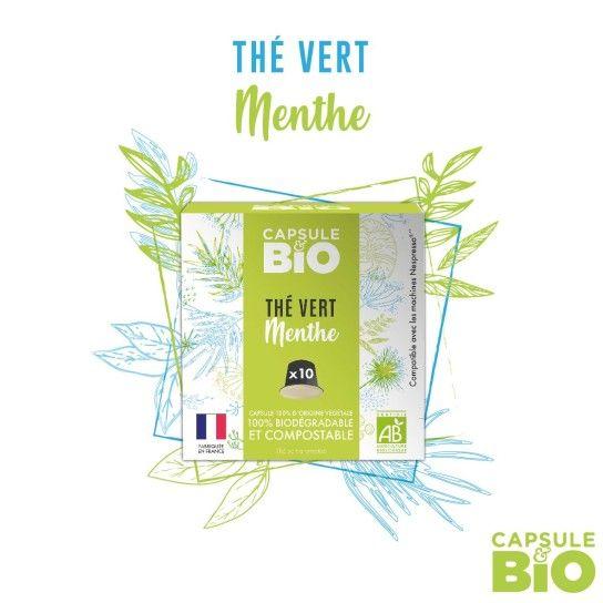 Capsule Bio - Thé Vert Menthe (x10)