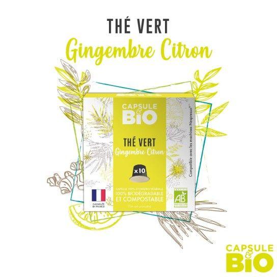 Capsule Bio - Thé Vert Gingembre Citron (x10)