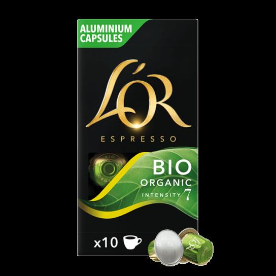 Capsule Nespresso® Compatibles Bio Organic Intensity 7 L'Or Espresso (x10)