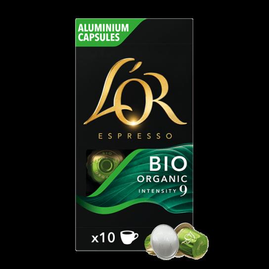 Capsule Nespresso® Compatibles Bio Organic Intensity 9 L'Or Espresso (x10)